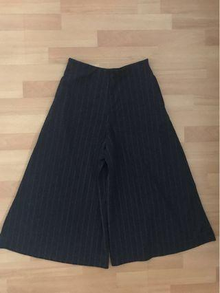 UNIQLO Black/ Dark Grey Culottes