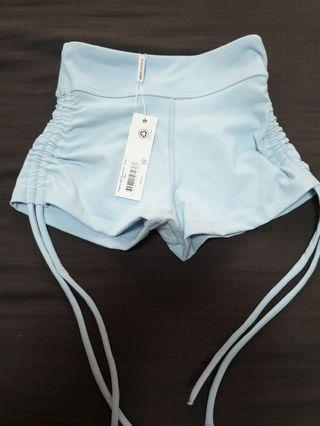 🚚 Dharmabums Yoga and Activewear Supplex High Waist Short (Cloud Blue) XS