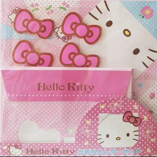 Limited edition hello kitty pink origami paper notebook notepad letter pad envelope stickers