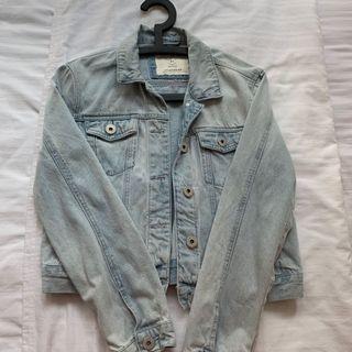 light washed denim jacket