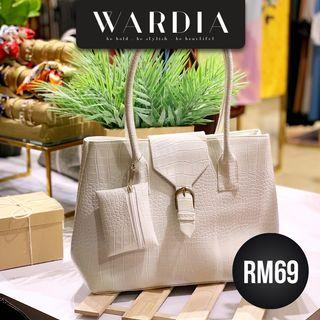HANDBAG WARDIA WHITE