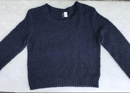 H&M Navy Knitted Sweater