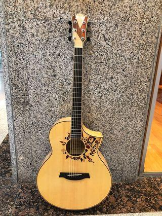Ibanez Limited Ed AEW15LTD1-NT AEW Acoustic Guitar, Natural High Gloss