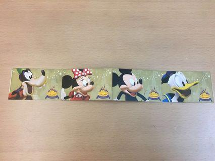 香港廸士尼  2005 開幕日門劵 入場券 一套四張 連張 Hong Kong Disneyland  2005 Grand Opening Entry Ticket