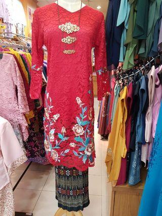 🚚 Baju kurung lace panjang
