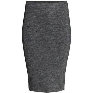 H&M Grey Jersey pencil skirt