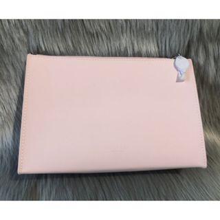 【黑皮TIME】GIVENCHY紀梵希-粉色皮革手拿包 (專櫃正品)
