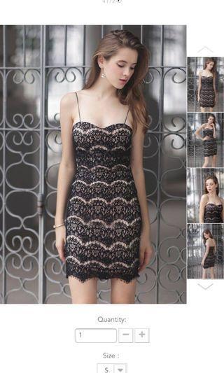 Lexilyla Elliot lace cami dress in S
