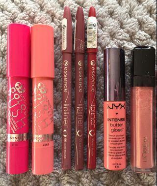 Lip Bundle Nyx Essence L'Oréal Rimmel