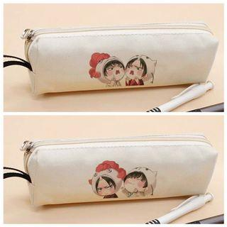 Hoozuki no Reitetsu Minimalist White Canvas Pencil Case Holder