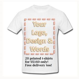 Custom Silkscreen Printing T-Shirts for Adults & Kids (A4 area)