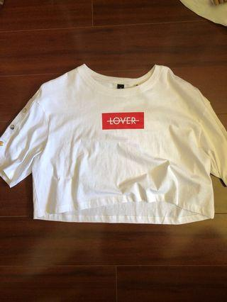 NEW Factorie cropped white t shirt