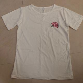 white rose tee