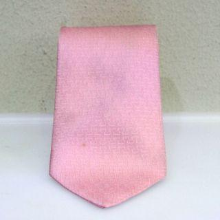 "Hermes ""H"" Pattern Tie (Pink Colour Base)"