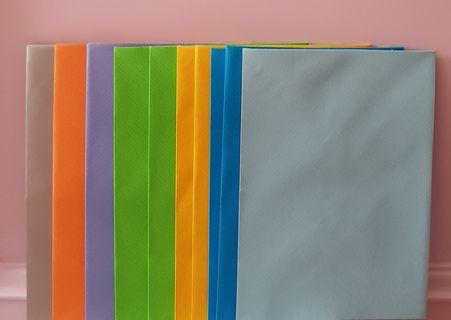 10 Coloured kinokuniya kikki k envelopes for letters notes papers