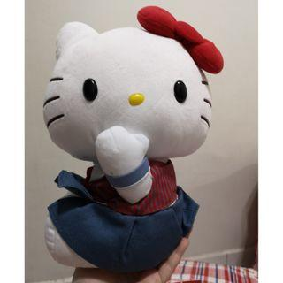 Set of 3 - Bonbons Hello Kitty Cafe Shanghai big plush toy + 2 keychain mascot set