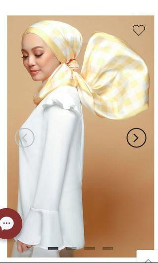 The Checked Mate Scarf in Yellow