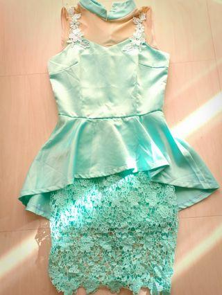 Tosca cheongsam lace dress