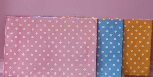 3 colourful polka dots kinokuniya kikki k envelopes for letters notes papers