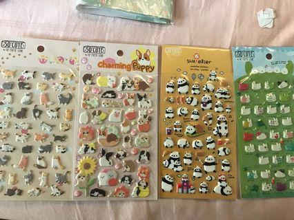🚚 Pop-up animal stickers The Paper Stone