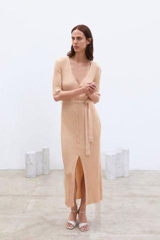 Zara belted knitt dress