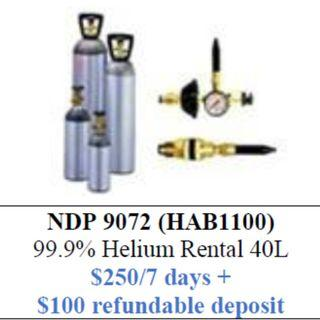 """40L Helium Tank Rental (inflate up to 400pcs 12"""" latex balloons)"""