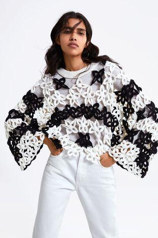 Zara limited edition jumper croche (no inner)