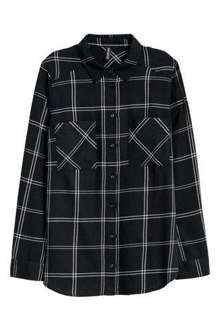 🚚 H&M Black and white checkered Shirt
