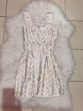 Gold & white dress
