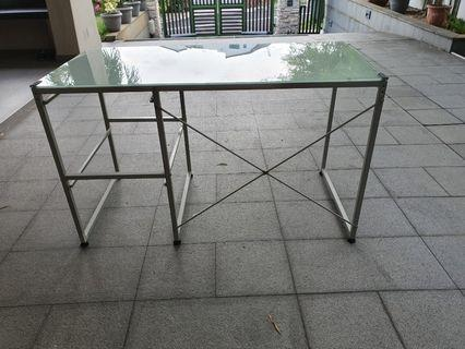 🚚 Glass chrome study/dining table