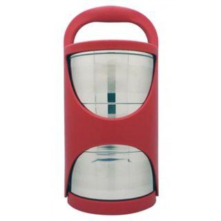 La gourmet® 3R 3 Tier Tiffin Carrier Double Wall Stainless Steel (Red)