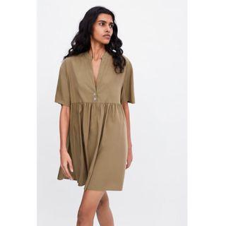 (BN) 💯 Authentic Zara Longline Button-up Dress