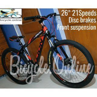 "LION 26"" 21Speeds MTB / Mountain Bikes ☆ Disc Brakes & Front Suspension ☆ Brand new bicycle"