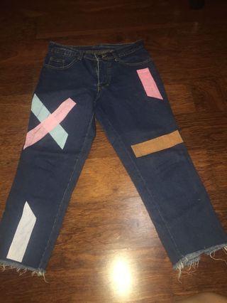 Celana Jeans Efek Warna