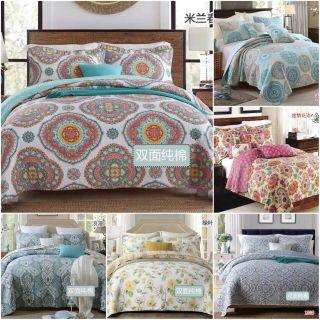European Bedsheet 3pc Set Bed Cover blanket