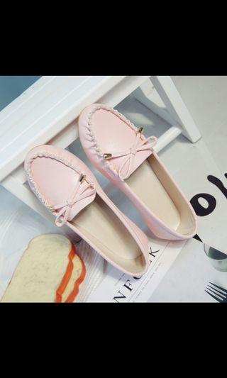 Ladies flats with ribbon (Light pink)