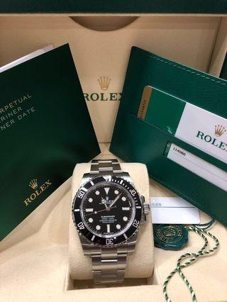 (RESERVED) Brand New Rolex Submariner 114060 (No Date) - April 2019