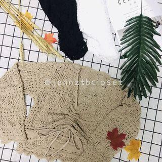针织镂空长袖