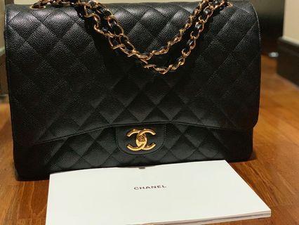 Chanel Double Flap Classic Maxi Bag