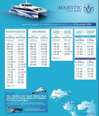 Good Friday and Labour Day - Batam Ferry Tickets