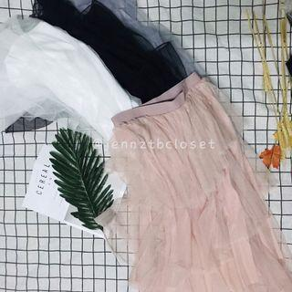 渐层网纱裙