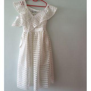 Authentic Self-portrait crochet mid-length dress