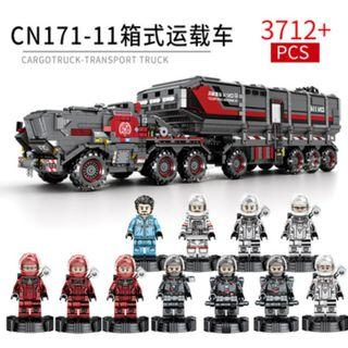 """**Newly Launched** Sembo 107009 : """"Movie The Wandering Earth"""" Cargo Truck (3712pcs)"""