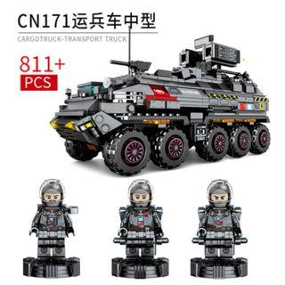 """**Newly Launched** Sembo 107005 : """"Movie The Wandering Earth"""" Cargo Truck (811pcs)"""