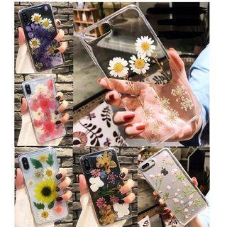 IPHONE PHONE CASE CLEAR FLOWERS DAISY