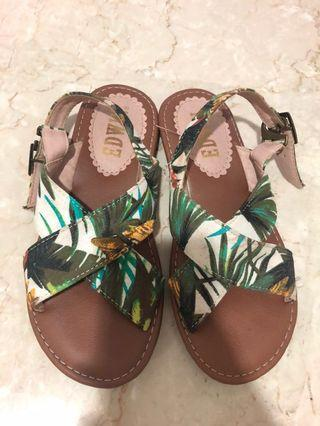 Tropical Criss Cross Sandals