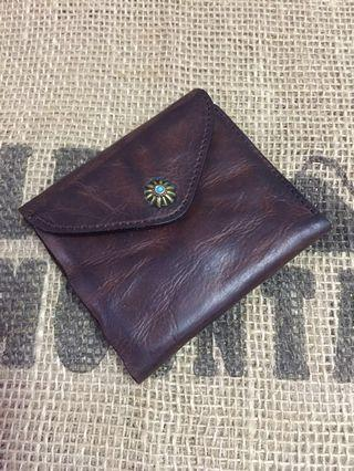 Vintage Small Button Wallet