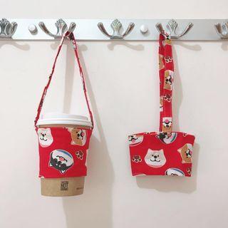 環保杯套 飲品袋🥤四款柴犬圖案🐶