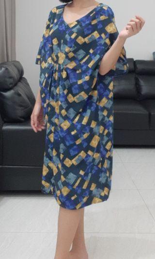 semi kaftan pattern dress