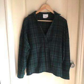 🚚 綠格紋襯衫
